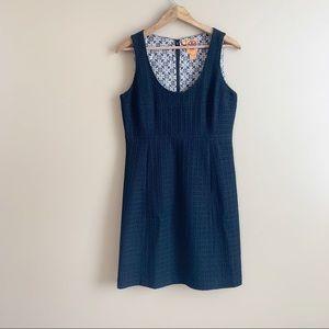TORY BURCH black wool sheath dress sleeveless sz 4